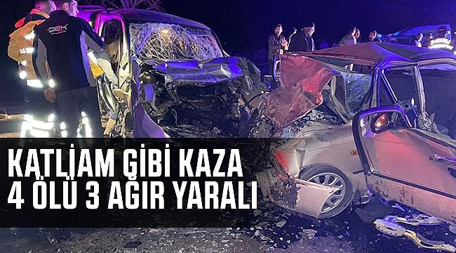 Karaman Konya yolunda kaza var 4 ölü 4 yaralı var