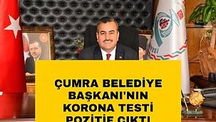Çumra Belediye Başkanı Halit Oflaz, Korona testinin pozitif çıktığını açıkladı