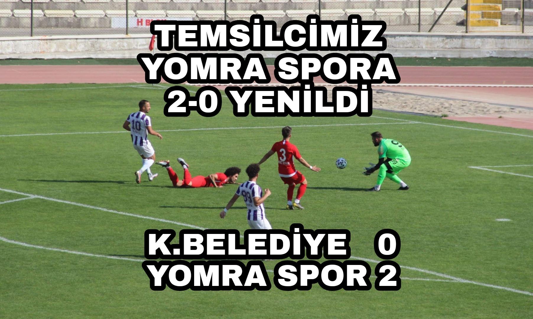TFF 3. Lig: Karaman Belediyespor: 0 - Yomraspor: 2