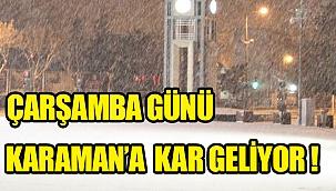 Meteoroloji uyardı!Türkiye geneline Çarşamba günü kar geliyor