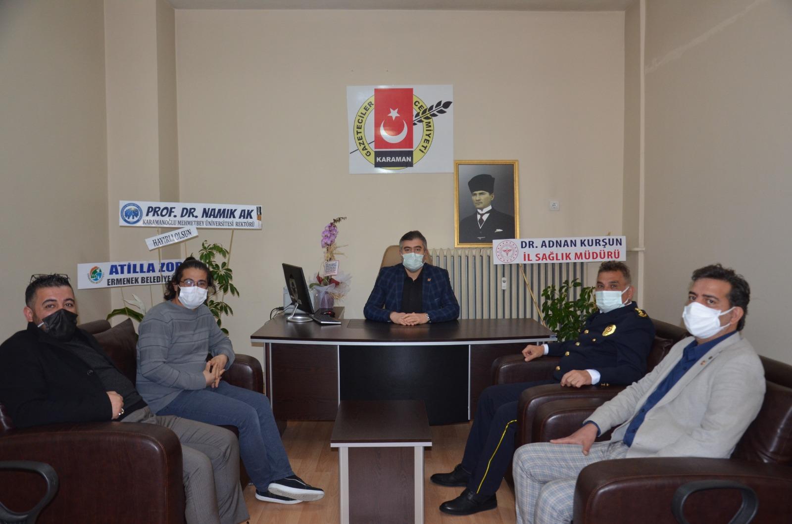 Emniyet Müdürü Ayhan Taş'dan Gazeteciler Cemiyetine Ziyaret