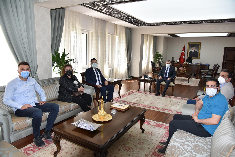 Karaman Gazeteciler Cemiyetinden Vali Mehmet Alpaslan Işık'a İade-i Ziyaret
