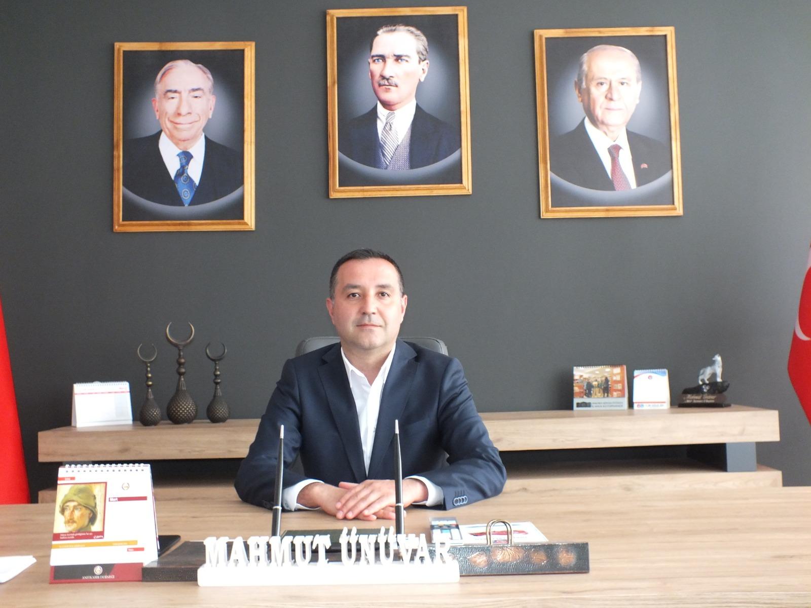 Milliyetçi Hareket Partisi Karaman İl Başkanı Ünüvar ''Başbuğumuz emin olsun''