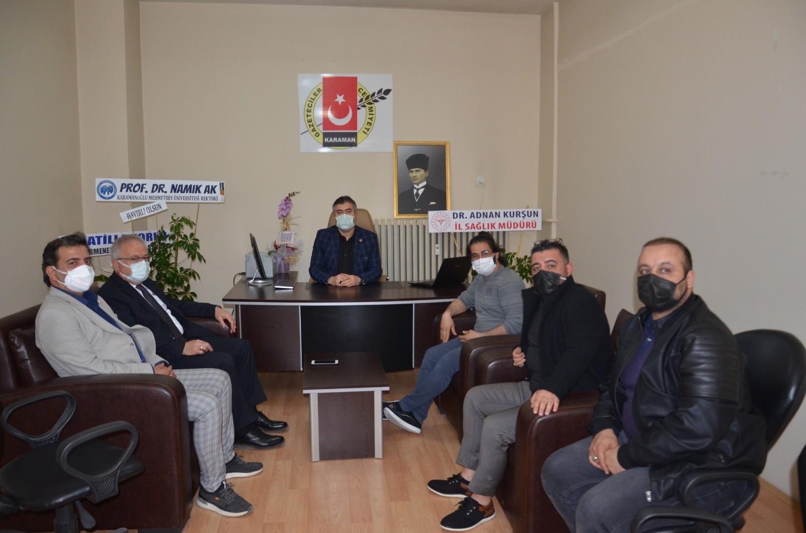 Rektör Ak Hoca Gazeteciler Cemiyetini Ziyaret Etti