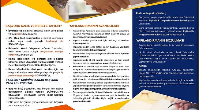 Karaman SGK İl Müdürlüğünden yapılandırma çağrısı