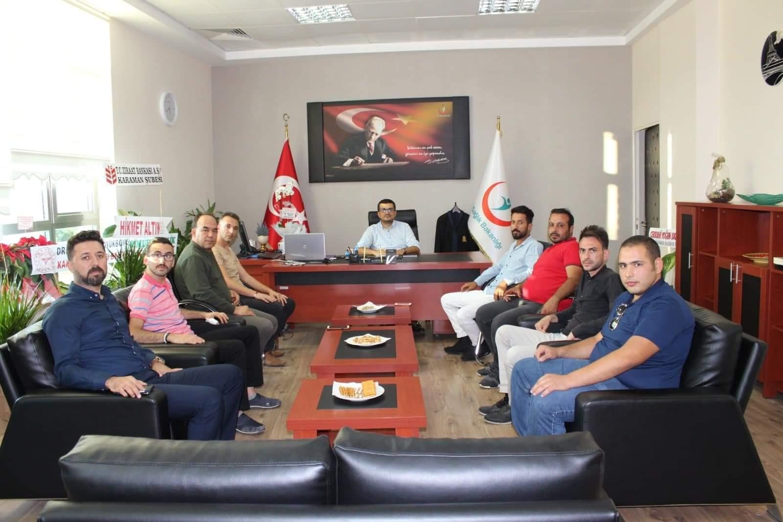 Gazetecilerden Karaman Devlet Hastanesi Başhekimi Yılmaz'a Hayırlı Olsun Ziyareti